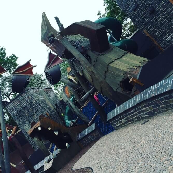 Drachenspielplatz im Zoo Leipzig